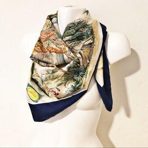 Stunning Gucci African Safari Silk Scarf